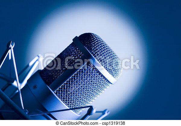 Microphone in studio. - csp1319138