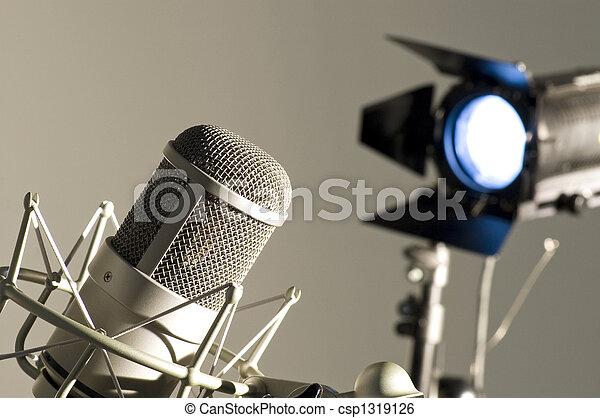 Microphone in studio. - csp1319126