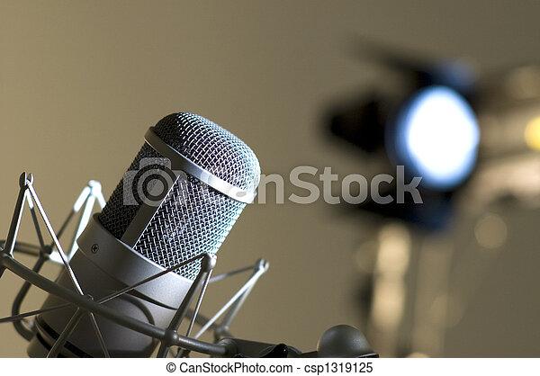 Microphone in studio. - csp1319125