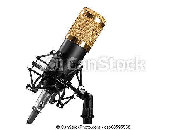 microphone isolated on a white background - csp68595558
