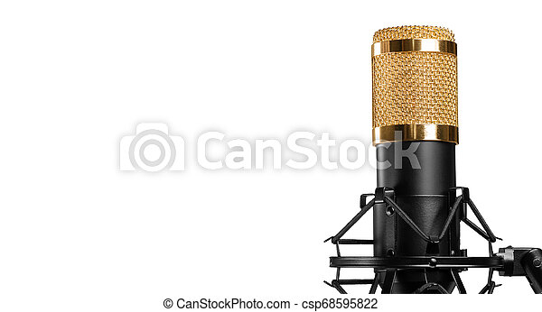 microphone isolated on a white background - csp68595822