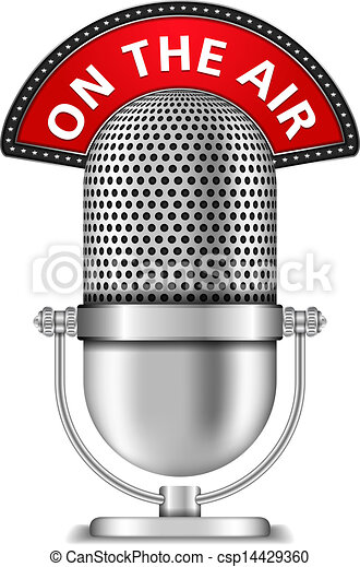 Microphone On The Air - csp14429360