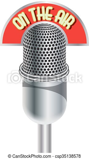 Microphone On The Air - csp35138578