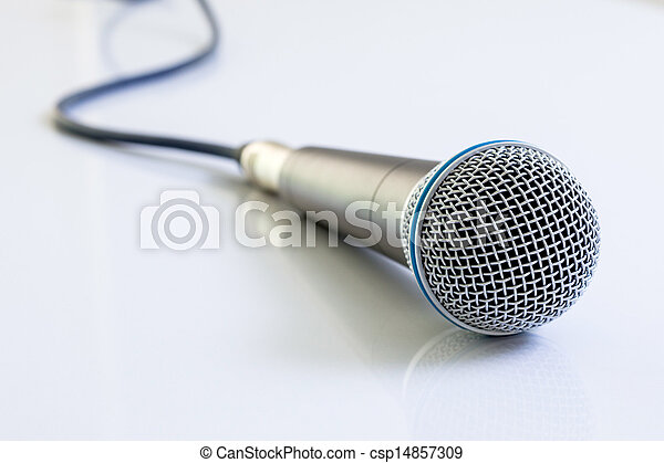 Microphone on white background. - csp14857309