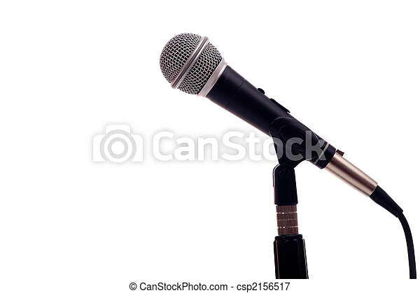 Microphone on White - csp2156517