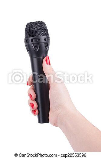 microphone., samicza ręka - csp22553596