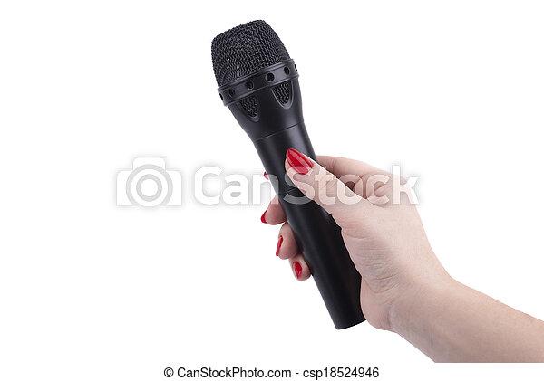 microphone., samicza ręka - csp18524946