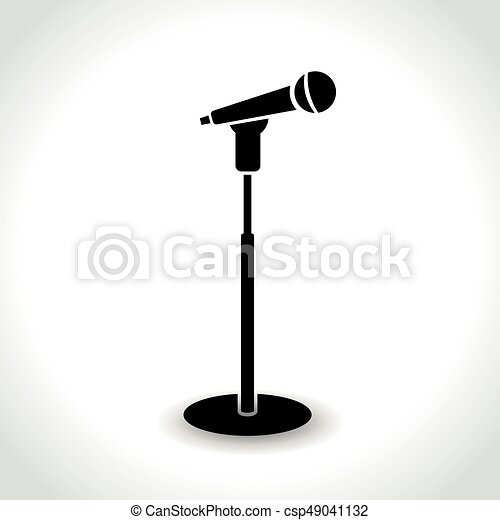 Microphone With Stand Drawing Illustration of...