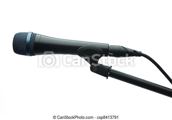 microphone, studio - csp8413791