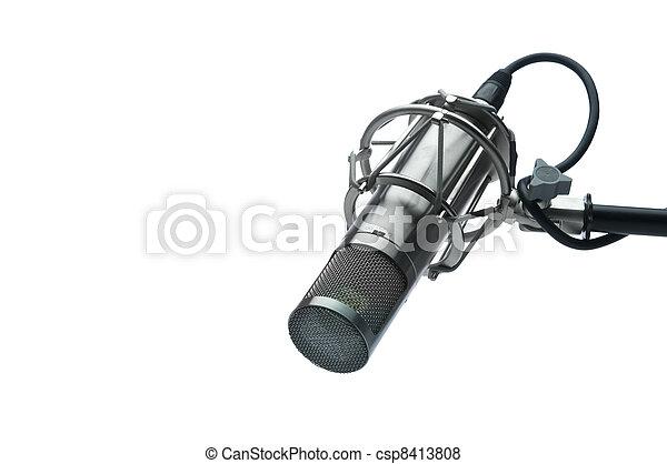 microphone, studio - csp8413808