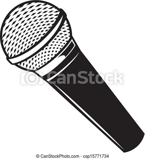 microphone, vecteur, classique - csp15771734