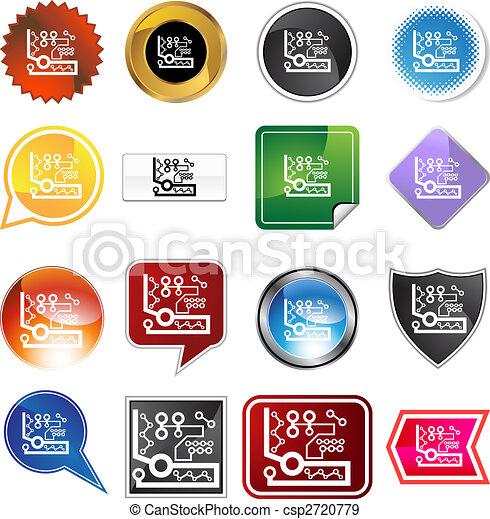 Microprocessor Icon Set - csp2720779
