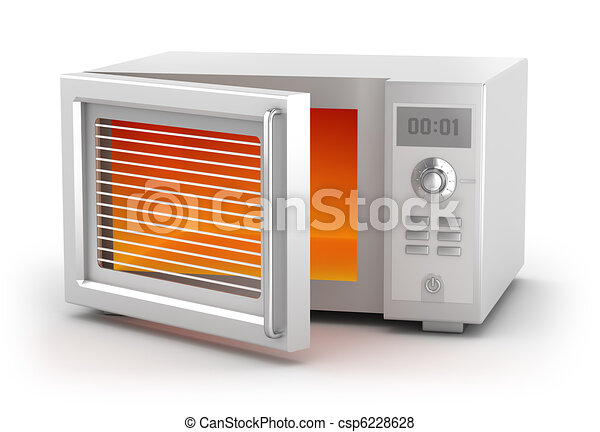 Microwave oven isolated on white - csp6228628