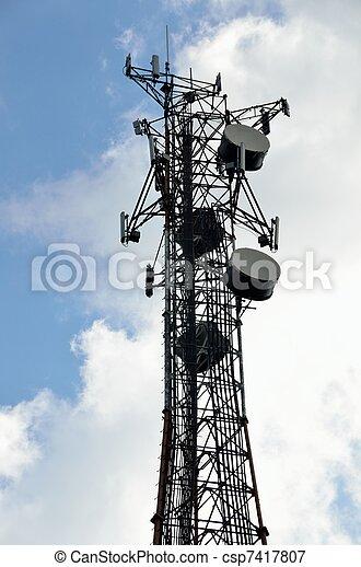 microwave tower - csp7417807