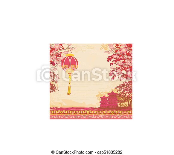 Mid-autumn festival for chinese new year card.