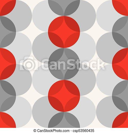 Mid Century Modern 1950s Style Vintage Retro Atomic Seamless Background Pattern