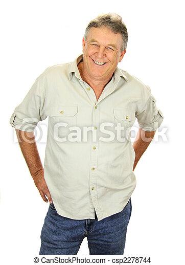 middelbare leeftijd , ongedwongen, man - csp2278744