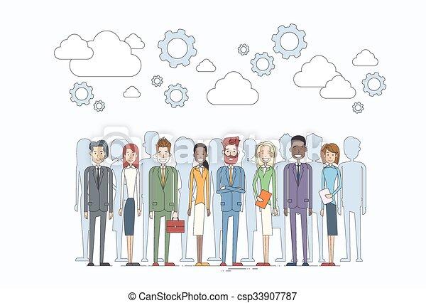middelen, mensen zaak, menselijk, team, groep, anders - csp33907787