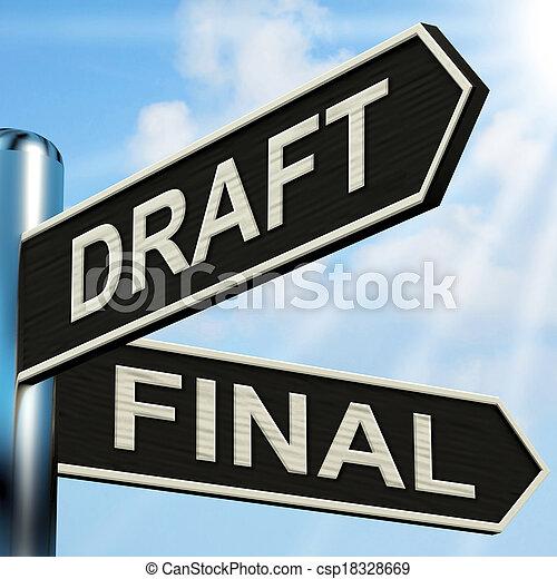 middelen, wegwijzer, schrijvende , rewriting, wisselbrief, opmaak, eind- - csp18328669