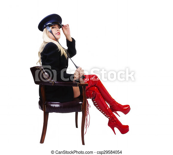 Middle Aged Caucasian Woman Sitting In Chair - csp29584054
