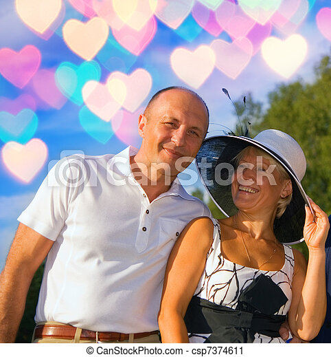 Middle-aged couple in love - csp7374611