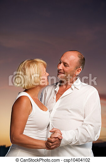Middle-aged couple in love - csp10404102
