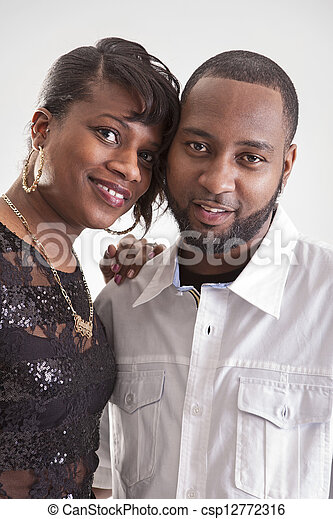 middle aged couple in studio - csp12772316
