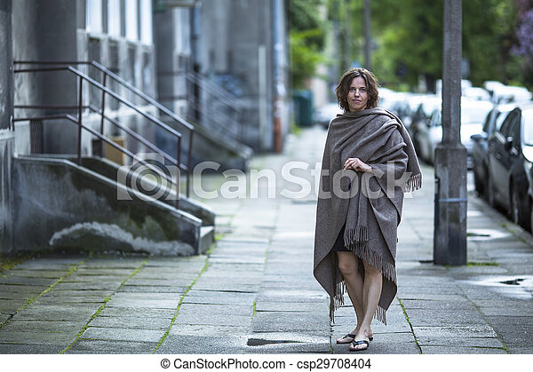 Middle-aged woman standing - csp29708404