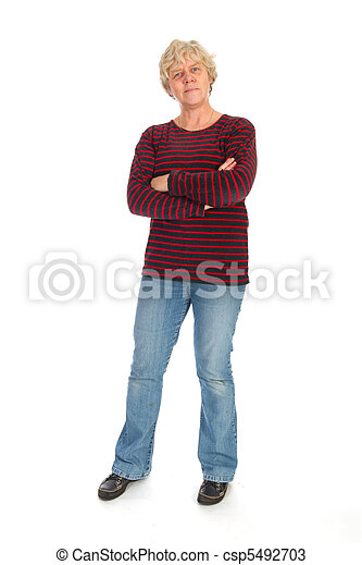 Middle aged woman standing - csp5492703