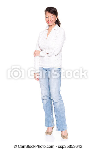Middle aged woman - csp35853642