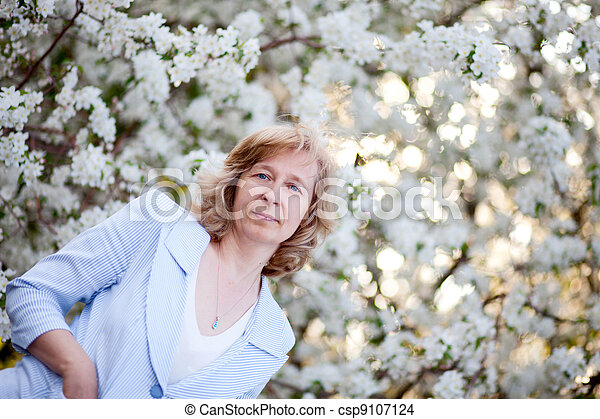 middle-aged woman - csp9107124
