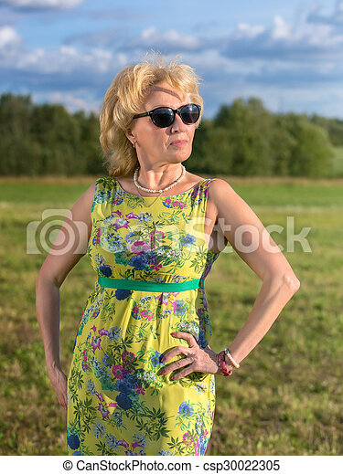 Middle aged woman - csp30022305