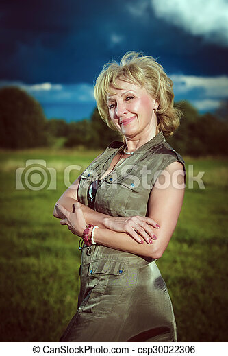 Middle aged woman - csp30022306