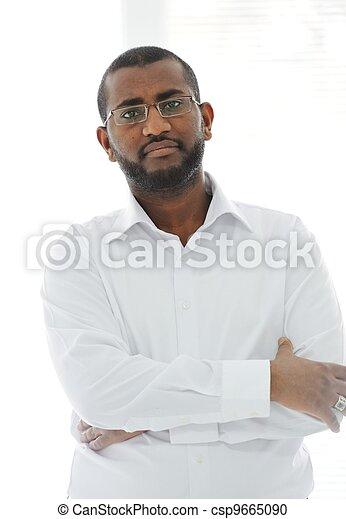 Middle Eastern Arabic black man - csp9665090