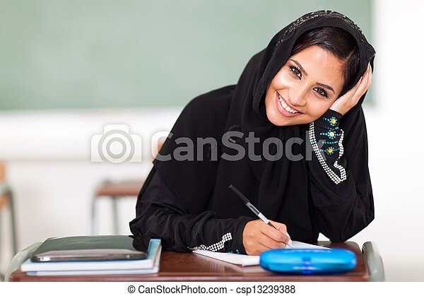 middle eastern high school student - csp13239388