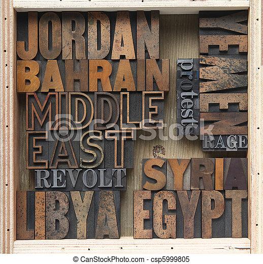 Mideast words - csp5999805
