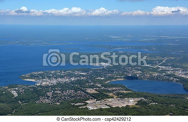 Midland, Ontario aerial - csp42429212