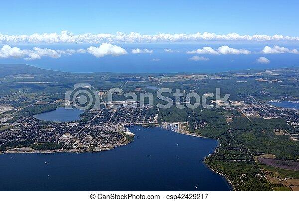 Midland, Ontario aerial - csp42429217