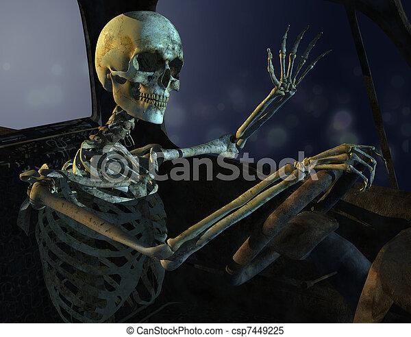 Midnight Drive Skeleton - csp7449225