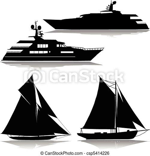 Yacht en medio de un vector - csp5414226