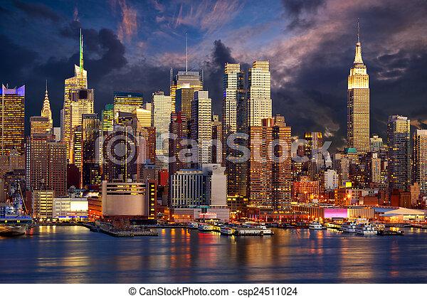 midtown, skyline, manhattan - csp24511024