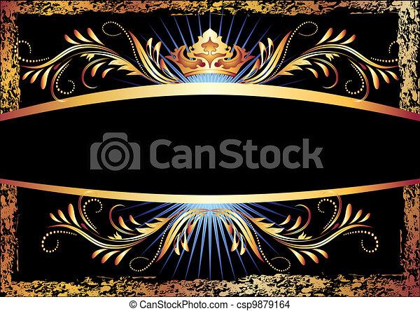 miedź, ozdoba, korona, luksusowy - csp9879164