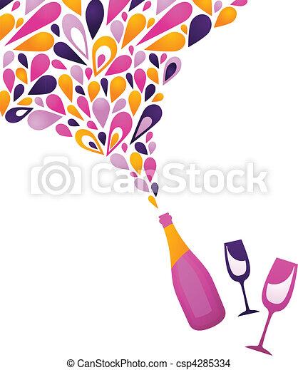 Fondo de vinos funky - 3 - csp4285334
