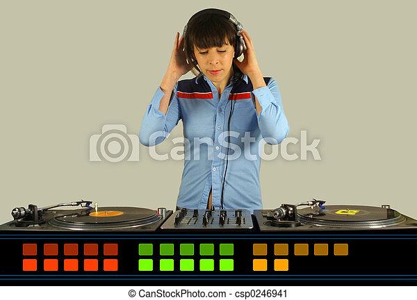 Funky dj femenino - csp0246941