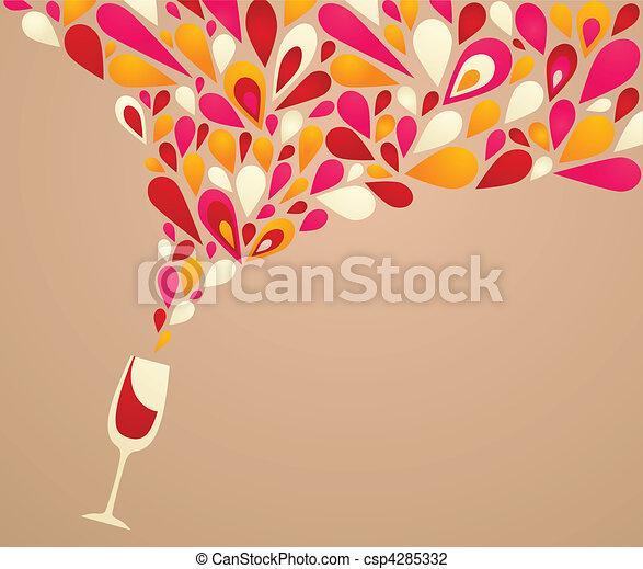 Fondo de vinos funky - csp4285332