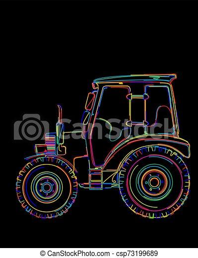 Un tractor funky - csp73199689