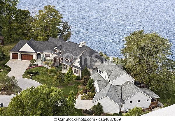 miejsce zamieszkania, lakefront - csp4037859