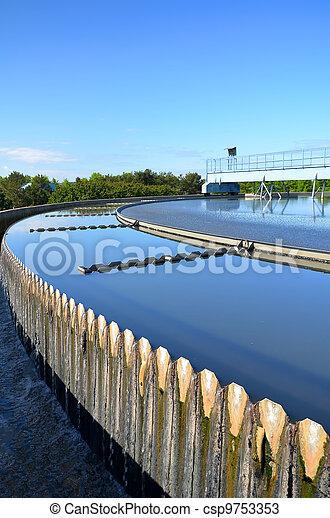 miejski, nowoczesny, traktowanie, wastewater, plant. - csp9753353