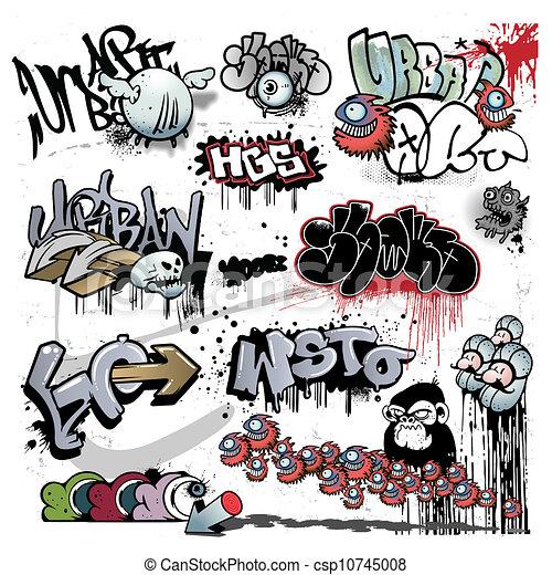 miejskie graffiti, elementy, sztuka - csp10745008