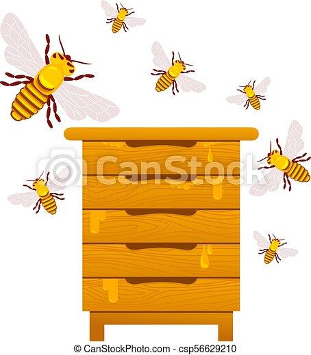 Abejas y miel - csp56629210